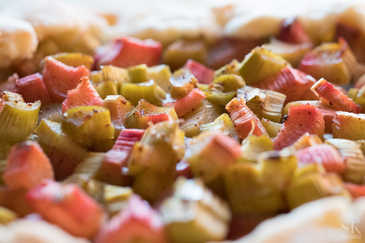 A scrumptious rhubarb galette